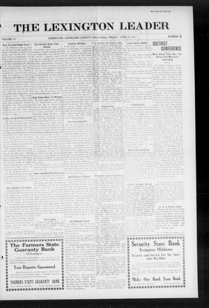 Primary view of object titled 'The Lexington Leader (Lexington, Okla.), Vol. 23, No. 32, Ed. 1 Friday, April 24, 1914'.