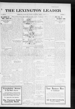 Primary view of object titled 'The Lexington Leader (Lexington, Okla.), Vol. 23, No. 41, Ed. 1 Friday, June 26, 1914'.