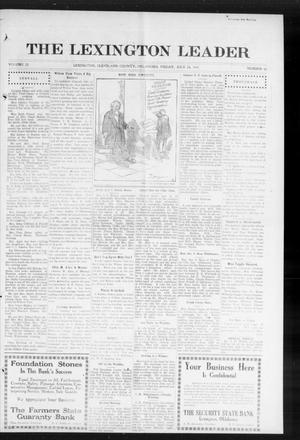 Primary view of object titled 'The Lexington Leader (Lexington, Okla.), Vol. 23, No. 45, Ed. 1 Friday, July 24, 1914'.