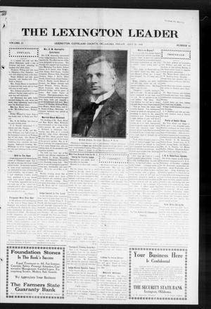 Primary view of object titled 'The Lexington Leader (Lexington, Okla.), Vol. 23, No. 46, Ed. 1 Friday, July 31, 1914'.