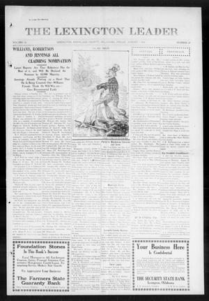 Primary view of object titled 'The Lexington Leader (Lexington, Okla.), Vol. 23, No. 47, Ed. 1 Friday, August 7, 1914'.