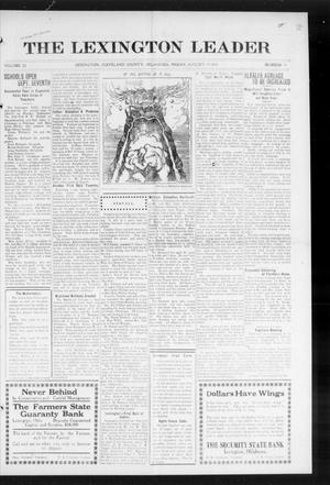 Primary view of object titled 'The Lexington Leader (Lexington, Okla.), Vol. 23, No. 50, Ed. 1 Friday, August 28, 1914'.