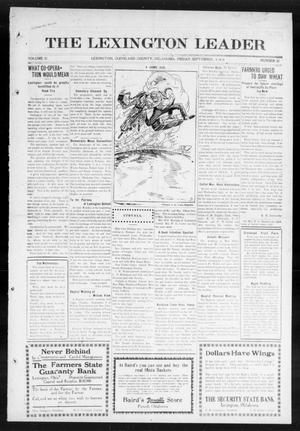 Primary view of object titled 'The Lexington Leader (Lexington, Okla.), Vol. 23, No. 51, Ed. 1 Friday, September 4, 1914'.