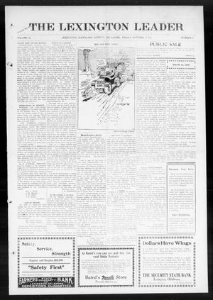 Primary view of object titled 'The Lexington Leader (Lexington, Okla.), Vol. 24, No. 3, Ed. 1 Friday, October 2, 1914'.