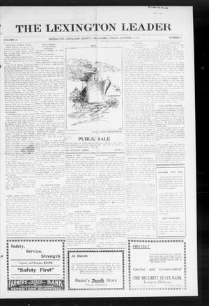 Primary view of object titled 'The Lexington Leader (Lexington, Okla.), Vol. 24, No. 4, Ed. 1 Friday, October 9, 1914'.