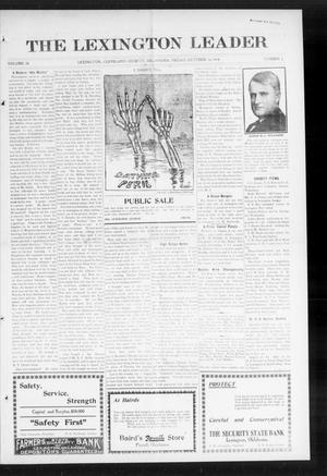 Primary view of object titled 'The Lexington Leader (Lexington, Okla.), Vol. 24, No. 5, Ed. 1 Friday, October 16, 1914'.