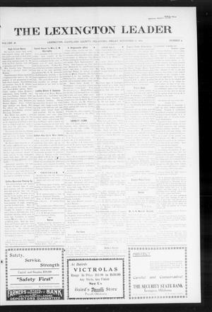 Primary view of object titled 'The Lexington Leader (Lexington, Okla.), Vol. 24, No. 9, Ed. 1 Friday, November 13, 1914'.