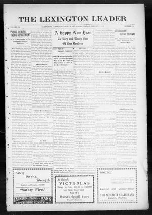 Primary view of object titled 'The Lexington Leader (Lexington, Okla.), Vol. 24, No. 16, Ed. 1 Friday, January 1, 1915'.