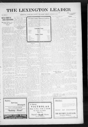 Primary view of object titled 'The Lexington Leader (Lexington, Okla.), Vol. 24, No. 17, Ed. 1 Friday, January 8, 1915'.
