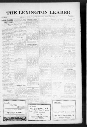 Primary view of object titled 'The Lexington Leader (Lexington, Okla.), Vol. 24, No. 19, Ed. 1 Friday, January 22, 1915'.