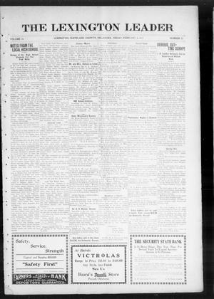 Primary view of object titled 'The Lexington Leader (Lexington, Okla.), Vol. 24, No. 21, Ed. 1 Friday, February 5, 1915'.