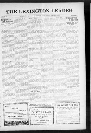 Primary view of object titled 'The Lexington Leader (Lexington, Okla.), Vol. 24, No. 22, Ed. 1 Friday, February 12, 1915'.