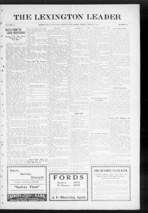 Primary view of object titled 'The Lexington Leader (Lexington, Okla.), Vol. 24, No. 25, Ed. 1 Friday, March 5, 1915'.