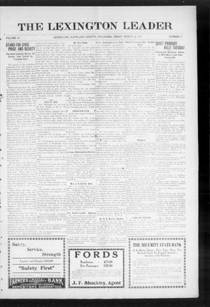 Primary view of object titled 'The Lexington Leader (Lexington, Okla.), Vol. 24, No. 27, Ed. 1 Friday, March 19, 1915'.