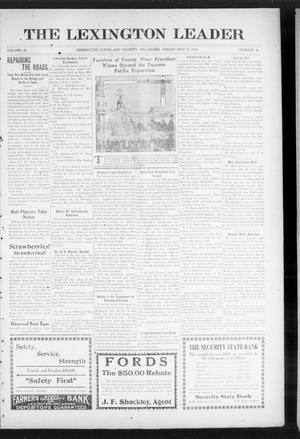 Primary view of object titled 'The Lexington Leader (Lexington, Okla.), Vol. 24, No. 36, Ed. 1 Friday, May 21, 1915'.