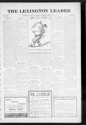 Primary view of object titled 'The Lexington Leader (Lexington, Okla.), Vol. 24, No. 44, Ed. 1 Friday, July 16, 1915'.