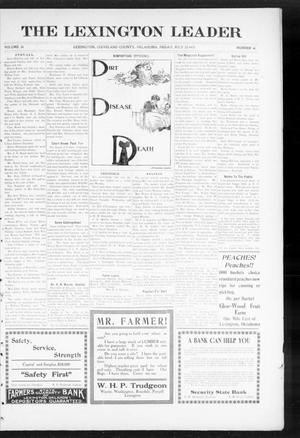 Primary view of object titled 'The Lexington Leader (Lexington, Okla.), Vol. 24, No. 45, Ed. 1 Friday, July 23, 1915'.