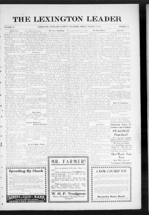 Primary view of object titled 'The Lexington Leader (Lexington, Okla.), Vol. 24, No. 48, Ed. 1 Friday, August 13, 1915'.