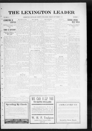 Primary view of object titled 'The Lexington Leader (Lexington, Okla.), Vol. 24, No. 51, Ed. 1 Friday, September 3, 1915'.