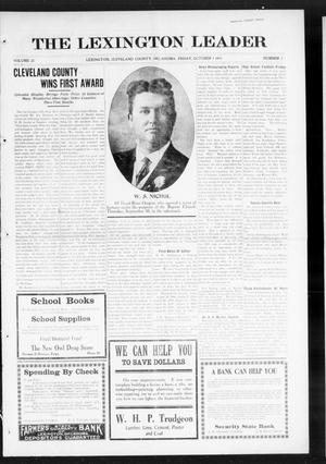 Primary view of object titled 'The Lexington Leader (Lexington, Okla.), Vol. 25, No. 3, Ed. 1 Friday, October 1, 1915'.