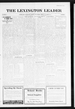 Primary view of object titled 'The Lexington Leader (Lexington, Okla.), Vol. 25, No. 4, Ed. 1 Friday, October 8, 1915'.