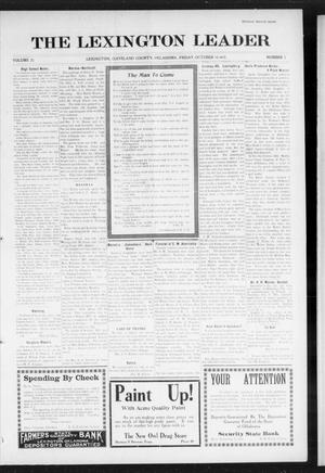 Primary view of object titled 'The Lexington Leader (Lexington, Okla.), Vol. 25, No. 5, Ed. 1 Friday, October 15, 1915'.
