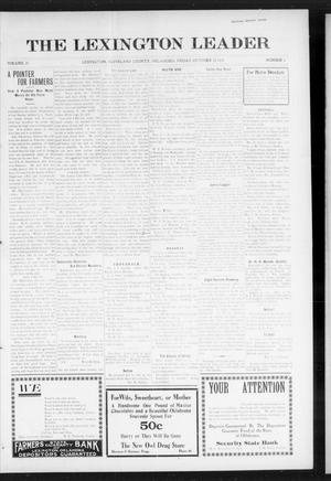 Primary view of object titled 'The Lexington Leader (Lexington, Okla.), Vol. 25, No. 6, Ed. 1 Friday, October 22, 1915'.