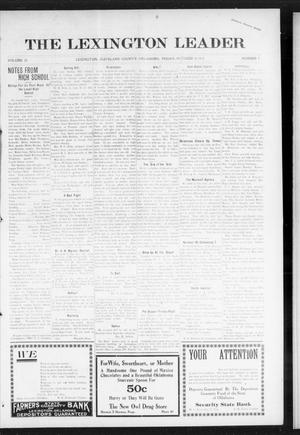 Primary view of object titled 'The Lexington Leader (Lexington, Okla.), Vol. 25, No. 7, Ed. 1 Friday, October 29, 1915'.