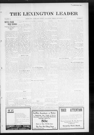 Primary view of object titled 'The Lexington Leader (Lexington, Okla.), Vol. 25, No. 8, Ed. 1 Friday, November 5, 1915'.