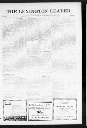 Primary view of object titled 'The Lexington Leader (Lexington, Okla.), Vol. 25, No. 9, Ed. 1 Friday, November 12, 1915'.