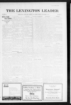 Primary view of object titled 'The Lexington Leader (Lexington, Okla.), Vol. 25, No. 10, Ed. 1 Friday, November 19, 1915'.