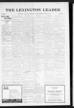 Primary view of object titled 'The Lexington Leader (Lexington, Okla.), Vol. 25, No. 13, Ed. 1 Friday, December 10, 1915'.