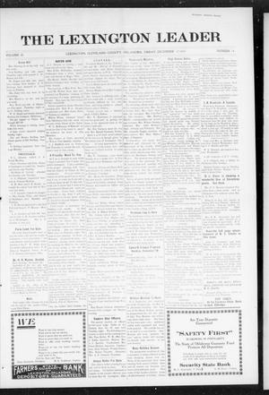 Primary view of object titled 'The Lexington Leader (Lexington, Okla.), Vol. 25, No. 14, Ed. 1 Friday, December 17, 1915'.