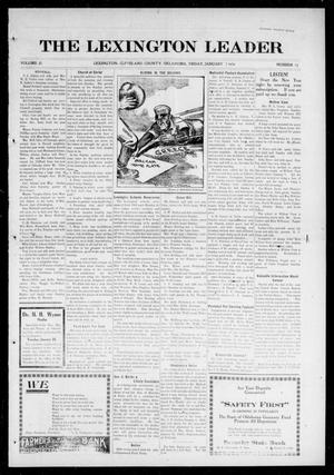 Primary view of object titled 'The Lexington Leader (Lexington, Okla.), Vol. 25, No. 17, Ed. 1 Friday, January 7, 1916'.