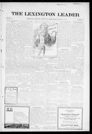 Primary view of object titled 'The Lexington Leader (Lexington, Okla.), Vol. 25, No. 18, Ed. 1 Friday, January 14, 1916'.