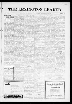 Primary view of object titled 'The Lexington Leader (Lexington, Okla.), Vol. 25, No. 20, Ed. 1 Friday, January 28, 1916'.