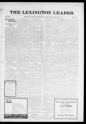 Primary view of object titled 'The Lexington Leader (Lexington, Okla.), Vol. 25, No. 22, Ed. 1 Friday, February 11, 1916'.