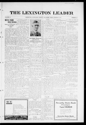 Primary view of object titled 'The Lexington Leader (Lexington, Okla.), Vol. 25, No. 26, Ed. 1 Friday, March 10, 1916'.
