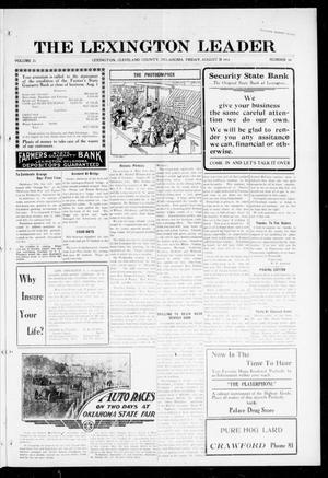 Primary view of The Lexington Leader (Lexington, Okla.), Vol. 25, No. 49, Ed. 1 Friday, August 18, 1916