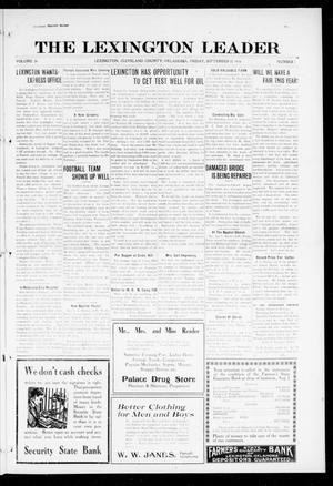 Primary view of object titled 'The Lexington Leader (Lexington, Okla.), Vol. 26, No. 1, Ed. 1 Friday, September 15, 1916'.