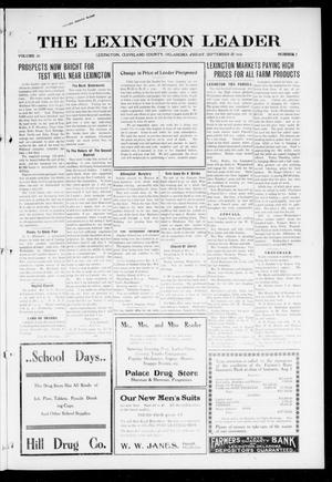 Primary view of object titled 'The Lexington Leader (Lexington, Okla.), Vol. 26, No. 2, Ed. 1 Friday, September 22, 1916'.