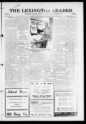 Primary view of object titled 'The Lexington Leader (Lexington, Okla.), Vol. 26, No. 3, Ed. 1 Friday, September 29, 1916'.