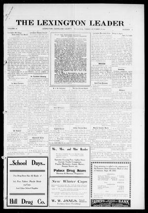 Primary view of object titled 'The Lexington Leader (Lexington, Okla.), Vol. 26, No. 4, Ed. 1 Friday, October 6, 1916'.