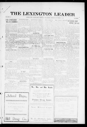 Primary view of object titled 'The Lexington Leader (Lexington, Okla.), Vol. 26, No. 5, Ed. 1 Friday, October 13, 1916'.