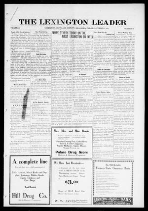 Primary view of object titled 'The Lexington Leader (Lexington, Okla.), Vol. 26, No. 12, Ed. 1 Friday, December 1, 1916'.