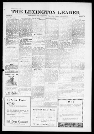 Primary view of object titled 'The Lexington Leader (Lexington, Okla.), Vol. 26, No. 17, Ed. 1 Friday, January 5, 1917'.
