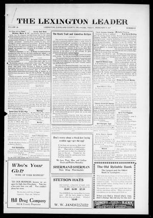 Primary view of object titled 'The Lexington Leader (Lexington, Okla.), Vol. 26, No. 21, Ed. 1 Friday, February 2, 1917'.
