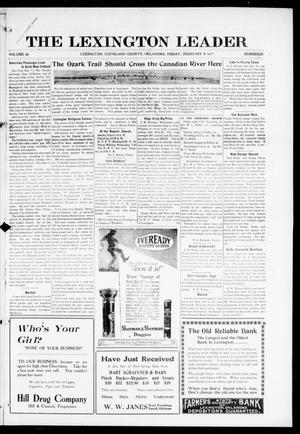 Primary view of object titled 'The Lexington Leader (Lexington, Okla.), Vol. 26, No. 22, Ed. 1 Friday, February 9, 1917'.