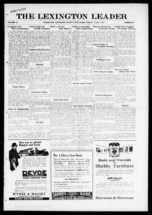 Primary view of object titled 'The Lexington Leader (Lexington, Okla.), Vol. 26, No. 38, Ed. 1 Friday, June 1, 1917'.