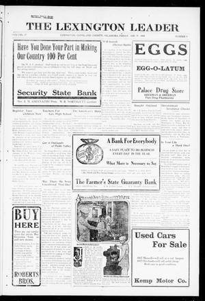 Primary view of The Lexington Leader (Lexington, Okla.), Vol. 27, No. 41, Ed. 1 Friday, June 21, 1918